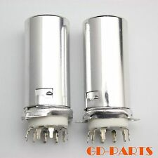 2PCS Generic 9pin PCB tube socket with Aluminum shield FR 12AX7,12AU7,12AT7 6922