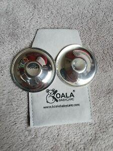 Silver Plated Koala Cups Breastfeeding Healing sheilds