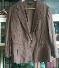 dkny brown linen jacket