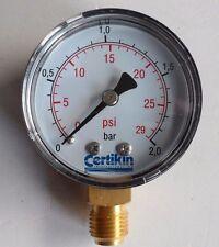 """CERTIKIN SAND FILTER SIDE ENTRY 0.25"""" PRESSURE GAUGE G3000"""
