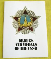Soviet Military/Civilian Medals Orders Awards Color Catalog/English Language