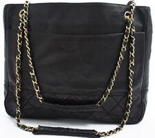 Chanel CHAIN Shoulder Bag a tracolla shopper shopping MATELASSE NERO 1