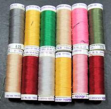 12xMachine Sewing THREAD METTLER Art 105 Silkfinish 100% cotton 150m-mixed-ZZ147
