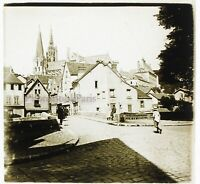 Francia Chartres Foto Stereo PL46Th5n Placca Da Lente Vintage 1925