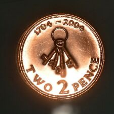 Gibraltar 2004 2 Pence Uncirculated - 300th Anniversary