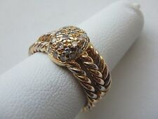 Cartier STUNNING VINTAGE 18K GOLD CASSIOPEIA DIAMOND RING W/ BOX SZ 6