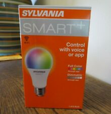 New! Sylvania SMART+ Control w Voice/App  Color & Dimmable A19 Bulb (1261)