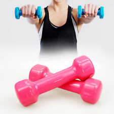 Fitness Vinyl Coated Colorful Hex Hand Weights Dumbbells (Pair) - Select Weight