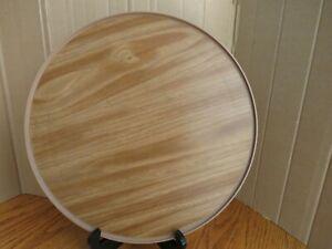 "Vintage Lazy Susan 13"" Rubbermaid Faux Wood Turntable JBI-2714 2 MCM"