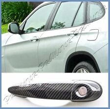 Fit 2012-15 BMW E84 X1 SUV Hatchback 4DR Carbon Fiber Door Handle Set Cover Hood