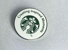 "STARBUCKS BARISTA PIN ""CREATING INSPIRED MOMENTS"" SIREN MERMAID LOGO NEW"