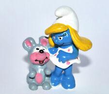 """20410-""""Schlumpfinchen mit Maus""""-""""Smurfette""""-Schleich-NEU -NEW-Smurf perfect !"""