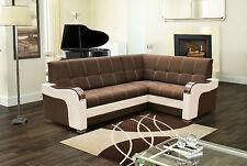 ECKSOFA Couch mit Schlaffunktion Eckcouch Polstergarnitur FARBWAHL Polster MARIO