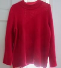 Faber finest fashion  Sweater, long sleeves, berry, Size 44, cotton blend, EC