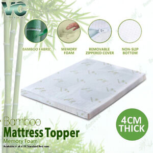 4CM Bamboo Memory Foam Bed Mattress Topper Soft Thick SPECIAL PRICE