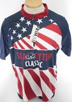New Primal Mens Large Red Blue USA Urban Bike Cycling Jersey Sea Otter Classic