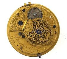 BARRAUD CORNHILL LONDON VERGE POCKET WATCH MOVEMENT SPARES OR REPAIRS VV37