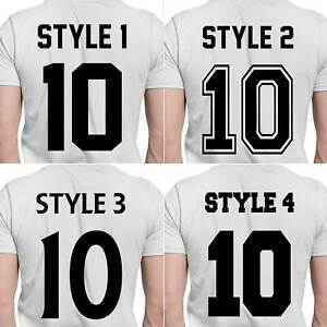 Sport Names Football Numbers Iron-On T-Shirt Transfer Rugby Style Decal Vinyl
