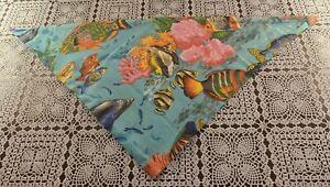 Brand New Underwater Fish Ocean Sea Design Dog Bandana MEDIUM LARGE Tie On Scarf