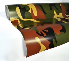 Military camouflage woodland vinyl sticker car wrap decal 15M x 1.52M VV9