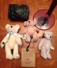 """BOYDS BEARS T.F. WUZZIES COLLECTION MINI PLUSH TOY 3.25"""" CREAM JOINTED BEAR LOT"""