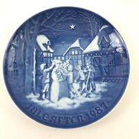 B&G Bing Grondahl 9087 1987 The Snowmans Christmas Eve Collectors Plate