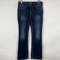 Silver Jeans Women's Size W30/L31 Suki Slim Boot Mid Rise Medium Wash Fluid