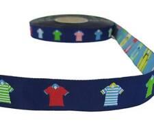 "5 Yds T-Shirts Clothes Fashion Blue Woven Jacquard Trim Ribbon 7/8""W"