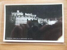 SCOTLAND POSTCARD: EDINBURGH CASTLE BY NIGHT