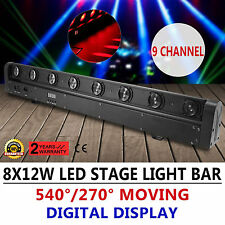 8X12W 4in1 Beam LED Bar DMX Moving Head Stage Light Wedding Automatic Rotation