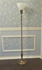 Vintage Stiffel Brass Torchiere Floor Lamp Hollywood Regency Art Nouveau Deco
