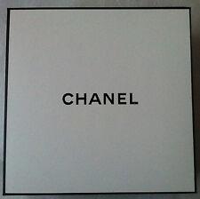 Authentic CHANEL Signature Square Gift Box White & Black Empty Vanity Large New