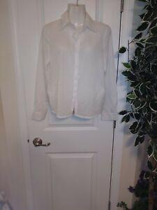 Autumn Fashion Button Up Satin Silk Shirt Vintage Blouse Women White Lady Long