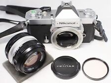 Nikon Nikormat FT2 35mm SLR Film Camera Body 2/ Nikkor-S.C Auto 50mm F/1.4 Lens