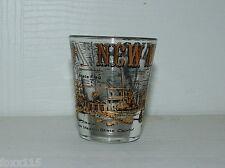 Vintage New Mexico Capitol Navajo Rug Weaver Shot Glass - Barware - Gold Leaf