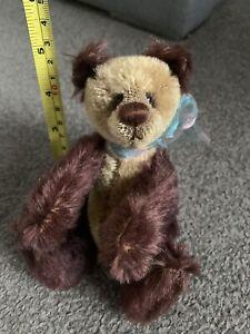 "OOAK Beautiful Mohair 7"" Panda Bear Browns Artist  Bear Excellent Cute Look NR"