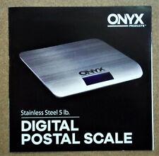 Onyx Digital Postal Scale 5 Lb. Capacity Usb Powered Precise 0.1 Oz - New!