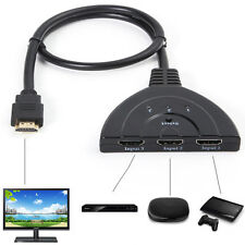3 Port Auto HDMI Switch Switcher Splitter Hub Box Adapter HD 1080p 3D HDTV IT