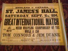 More details for lrg wrestling poster tom connors /jem duane ,manchester 1894 not hackenschmidt