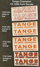 Tange Tx-1200 Champion Fork Decals - 1 pair of Tx-1200 Champion Fork Decals