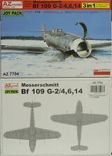 Bf-109 G-2/4,6,14, 3in1, AZ Model, 1:72, Plastik, Joypack 3 Modelle,NEU