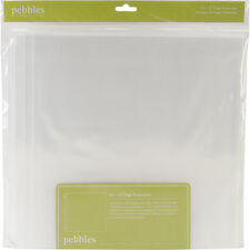 """Pebbles Share & Tell Page Protectors 12""""X12"""" 20/Pkg-(1) 12""""X12"""" Pocket"""