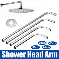 """12/16/20/24"""" Shower Head Arm Water Extension Pipes Mount Wall Stainless Steel"""