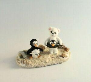 OOAK~Polar Bear~Penguin~Floaties~Beach~Artist Doll~Toy~Dollhouse~Cheryl Brown
