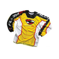 Alloy MOTOCROSS MX jersey shirt 05 réacteur jaune / Rouge vtt enduro moto haut