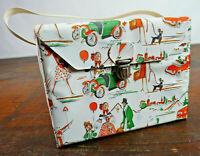50er Vintage Kühltasche Tasche Picknick Rockabilly Kühlbox Mid-Century