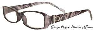 GIORGIO CAPONI AQUARIUS READING GLASSES + SOFT CASE/POUCH & CLOTH NEW ARRIVALS !
