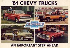 '81 CHEVY TRUCKS. AN IMPORTANT STEP AHEAD