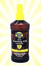 Banana Boat Dark Deep Tanning Tan Oil - SPF 4 - Carrots Extract Bronze - 8 OZ