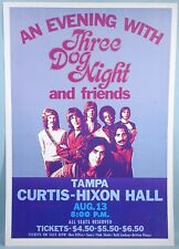 1970s Three Dog Night Original Poster Rock Concert Live Stage Performance